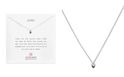 "Dogeared Sister Heart Necklace, 16"" - Bloomingdale's_2"