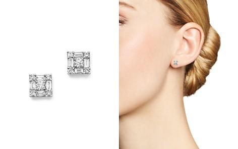 KC Designs 14K White Gold Diamond Mosaic Stud Earrings - Bloomingdale's_2