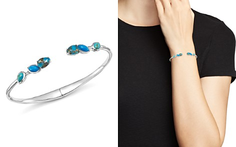 IPPOLITA Sterling Silver Rock Candy® Mixed Turquoise and Amazonite Doublet Hinged Bangle - Bloomingdale's_2