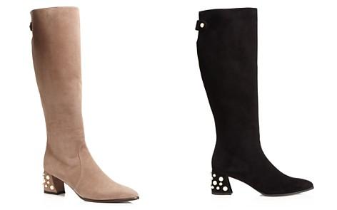 Stuart Weitzman Snap Pearl Stud Tall Boots - Bloomingdale's_2
