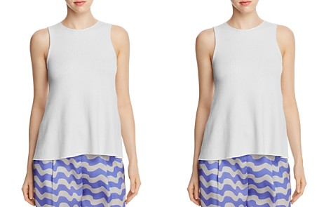 Armani Collezioni Ribbed Knit Sleeveless Top - Bloomingdale's_2
