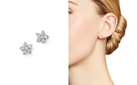 KC Designs 14K White Gold Diamond Mini Floral Cluster Stud Earrings - Bloomingdale's_2