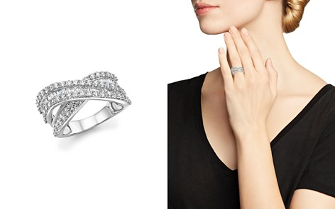 Diamond Round and Baguette Crossover Ring in 14K White Gold, 2.0 ct. t.w. - 100% Exclusive - Bloomingdale's_2