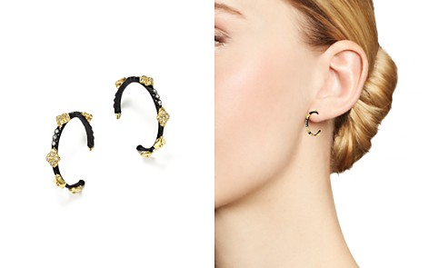 Armenta 18K Yellow Gold and Blackened Sterling Silver Old World Champagne Diamond Earrings - Bloomingdale's_2