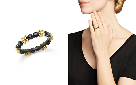 Armenta 18K Yellow Gold and Blackened Sterling Silver Old World Black Sapphire Stacking Ring - Bloomingdale's_2