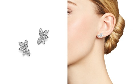 Diamond Leaf Earrings in 14K White Gold, .45 ct. t.w. - 100% Exclusive - Bloomingdale's_2