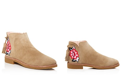 kate spade new york Bellville Embroidered Suede Booties - Bloomingdale's_2