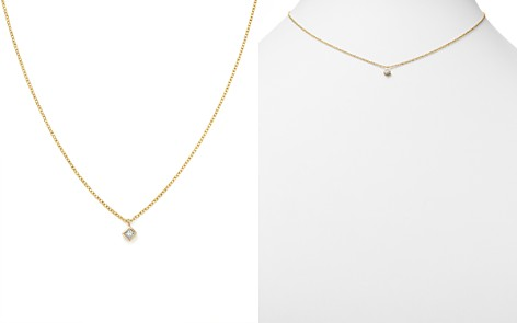 "Zoë Chicco 14K Yellow Gold Princess Diamond Choker Necklace, 14"" - Bloomingdale's_2"