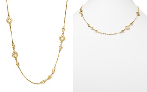 """Armenta 18K Yellow Gold Sueno Clover Scroll Station Champagne Diamond Necklace, 19"""" - Bloomingdale's_2"""