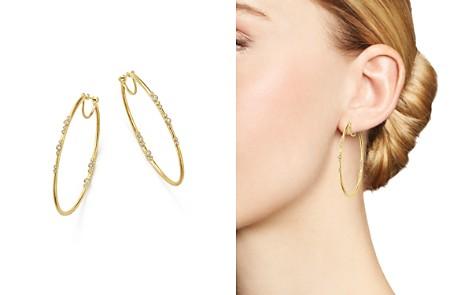 Armenta 18K Yellow Gold Sueno Diamond Eternity Hoop Earrings - Bloomingdale's_2
