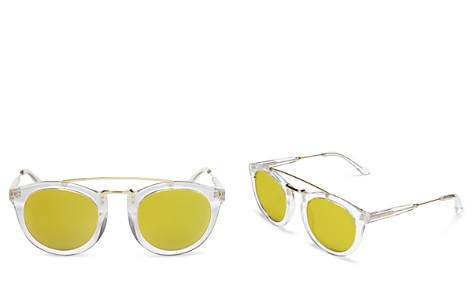 Lyndon Leone Women's Henry Mirrored Round Sunglasses, 49mm - 100% Exclusive - Bloomingdale's_2