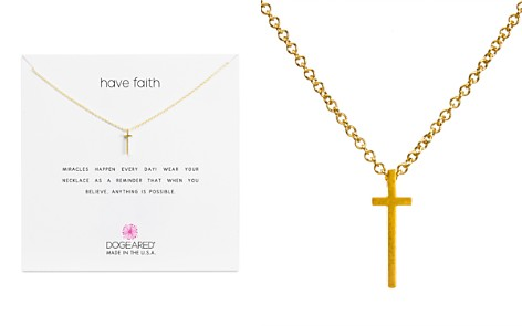 "Dogeared Have Faith Necklace, 16"" - Bloomingdale's_2"