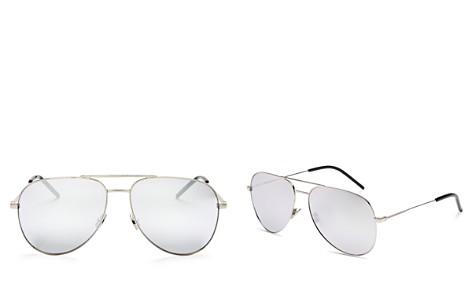 Saint Laurent Men's Mirrored Brow Bar Aviator Sunglasses, 58mm - Bloomingdale's_2