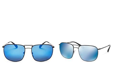 Prada Men's Mirrored Pilot Square Sunglasses, 60mm - Bloomingdale's_2