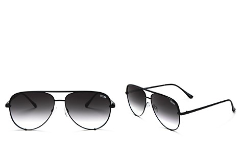 Quay x Desi High Key Brow Bar Aviator Sunglasses, 56mm - Bloomingdale's_2