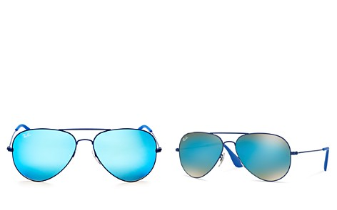 Ray-Ban Mirrored Aviator Sunglasses, 58mm - Bloomingdale's_2