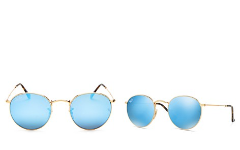 Ray-Ban Mirrored Round Sunglasses, 50mm - Bloomingdale's_2