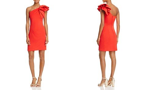 Avery G One-Shoulder Ruffle Cocktail Dress - Bloomingdale's_2