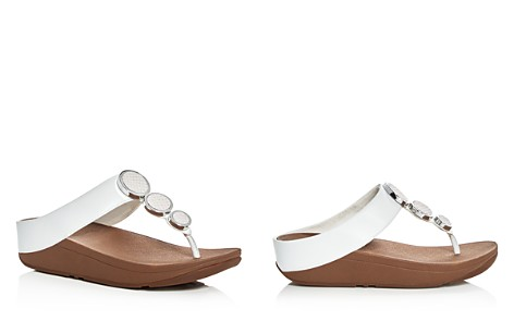 FitFlop Women's Halo Embellished Leather Platform Thong Sandals - Bloomingdale's_2