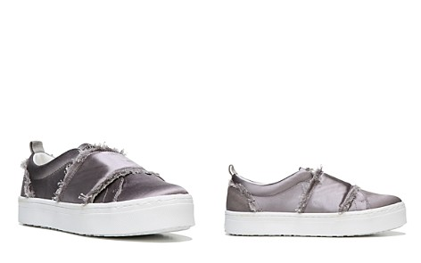 Sam Edelman Levine Frayed Satin Platform Slip-On Sneakers - Bloomingdale's_2