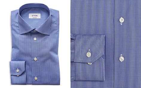 Eton of Sweden Mini Gingham Check Regular Fit Dress Shirt - Bloomingdale's_2