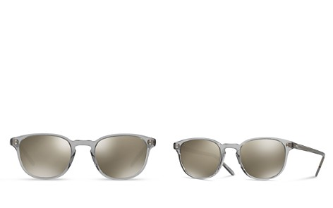 b19ebcce48eb6 Oliver Peoples Women s Fairmont Round Mirrored Sunglasses