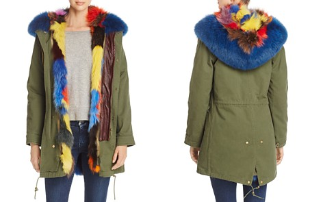 Maximilian Furs Patchwork Fox Fur Lined Parka - 100% Exclusive - Bloomingdale's_2