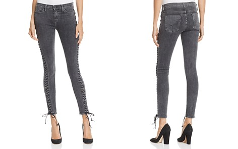 Hudson Contour Lace-Up Jeans in Vacant - 100% Exclusive - Bloomingdale's_2