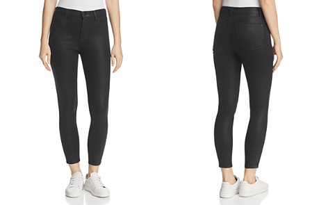 J Brand Alana Coated High Rise Crop Jeans in Fearless - Bloomingdale's_2