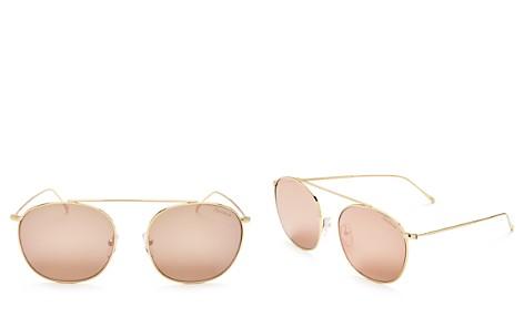 Illesteva Women's Mykonos II Mirrored Brow Bar Round Sunglasses, 52mm - Bloomingdale's_2