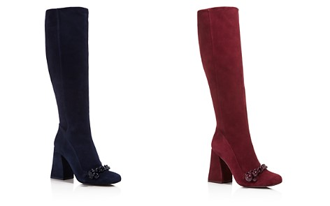 Tory Burch Addison Suede Square Toe Knee Boots - Bloomingdale's_2