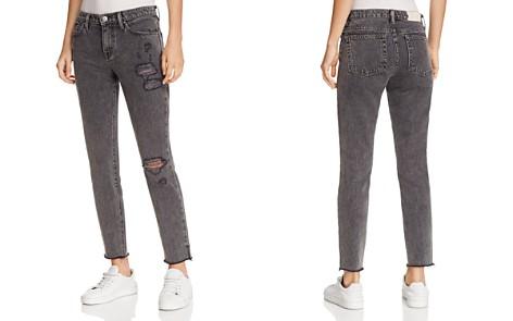 IRO.JEANS Lana Distressed Straight-Leg Jeans in Black - Bloomingdale's_2