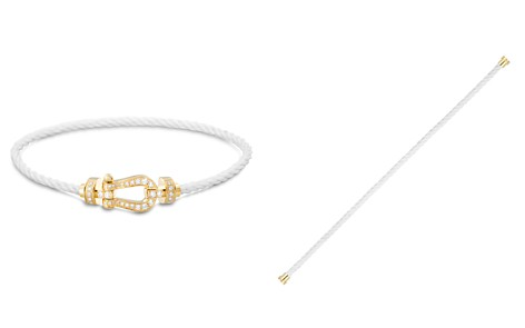 Fred Force 10 Medium Cable Bracelets with 18K Yellow Gold Buckles - Bloomingdale's_2