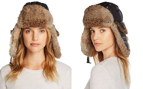 Crown Cap Rabbit Fur Aviator Hat - Bloomingdale's_2
