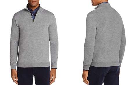 The Men's Store at Bloomingdale's Quarter-Zip Merino Sweater - 100% Exclusive _2