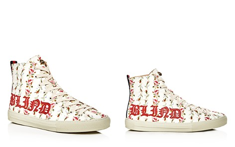 Gucci Major Blind For Love Rose Print Satin High Top Sneakers - Bloomingdale's_2