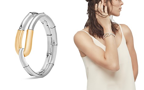 John Hardy 18K Yellow Gold and Sterling Silver Bamboo Flex Cuff - Bloomingdale's_2