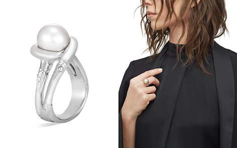 John Hardy Sterling Silver Bamboo Cultured Freshwater Pearl Ring - Bloomingdale's_2