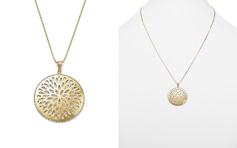 """14K White and Yellow Gold Flower Burst Pendant Necklace, 24"""" - 100% Exclusive - Bloomingdale's_2"""