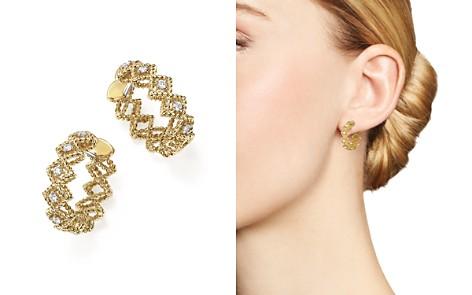 Roberto Coin 18K Yellow Gold New Barocco Diamond Hoop Earrings - Bloomingdale's_2