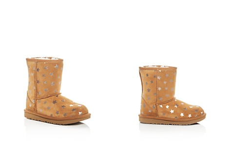 UGG® Girls' Classic Short II Stars Suede Boots - Little Kid, Big Kid - Bloomingdale's_2