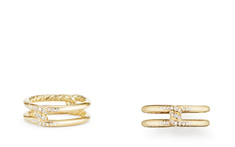 David Yurman Continuance Knot Ring with Diamonds in 18K Gold - Bloomingdale's_2
