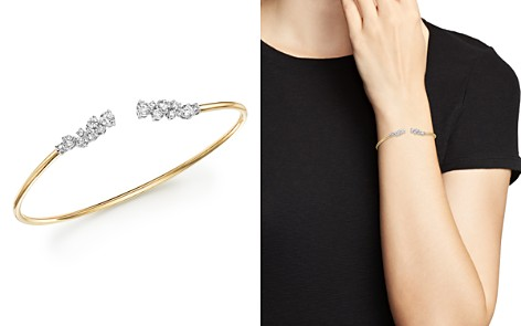 Diamond Open Bangle Bracelet in 14K White Gold and 14K Yellow Gold, 1.20 ct. t.w. - 100% Exclusive - Bloomingdale's_2