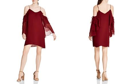 Haute Hippie Finale Silk Ruffle Sleeve Dress - Bloomingdale's_2