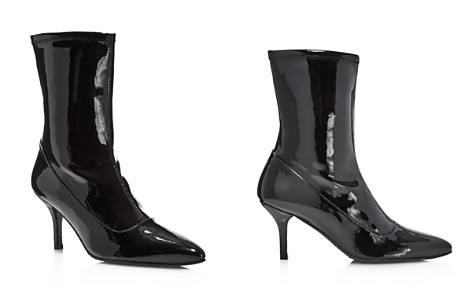Stuart Weitzman Clingy Patent Leather Pointed Toe Booties - Bloomingdale's_2
