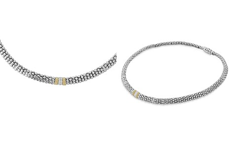 """LAGOS 18K Gold and Sterling Silver Diamond Lux Necklace, 18"""" - Bloomingdale's_2"""