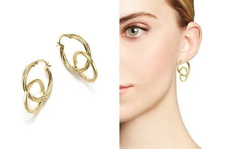 14K Yellow Gold Textured Double Drop Earrings - 100% Exclusive - Bloomingdale's_2