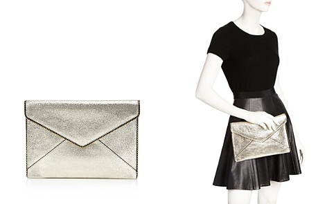 Rebecca Minkoff Leo Crackle Leather Clutch - Bloomingdale's_2