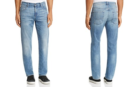 7 For All Mankind Carsen Homage Straight Fit Jeans in Light Wash - Bloomingdale's_2