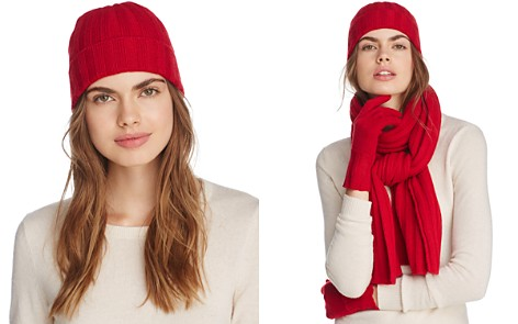 C by Bloomingdale's Ribbed Cashmere Cuff Hat - 100% Exclusive_2
